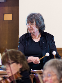 Picture of timpanist: Susan Bixley