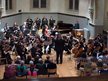 Picture of Surrey Philharmonic Orchestra with soloist Andrada Maria Brisc